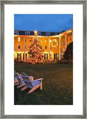 Congress Hall Christmas Framed Print