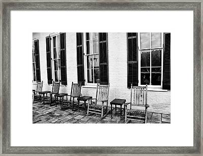 Congress Hall Rockers - Cape May Framed Print by Bill Cannon