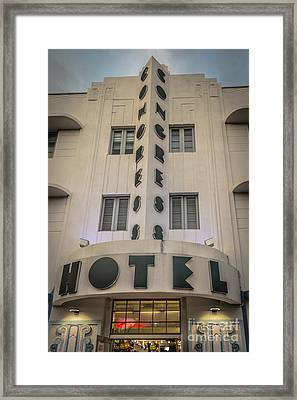 Congress Hotel 2 Art Deco District Sobe Miami Florida - Hdr Styl Framed Print by Ian Monk
