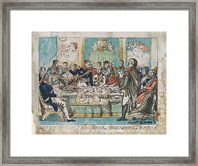 Congress Of Vienna Austria, 1815, Anonymous Framed Print by Anonymous