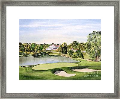 Framed Print featuring the painting Congressional Golf Course 10th Hole by Bill Holkham
