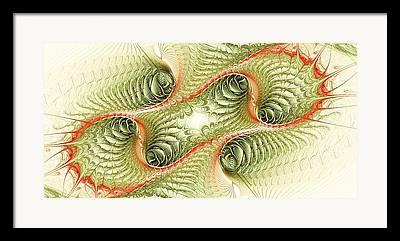 Unicellular Mixed Media Framed Prints
