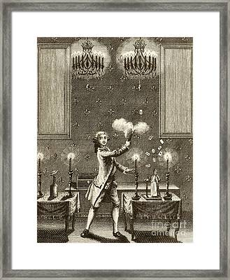 Conjuring Performance, 18th Century Framed Print by British Library