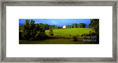Conley Road Farm Spring Time Framed Print by Tom Jelen