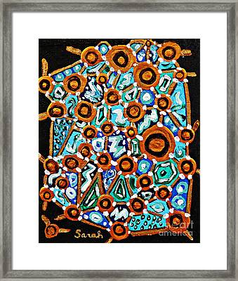 Connect The Dots Framed Print by Sarah Loft