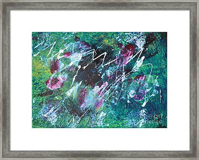 Connected Blue Green Abstract By Chakramoon Framed Print by Belinda Capol