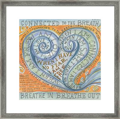 Connected To The Breath Framed Print by Jennifer Mazzucco