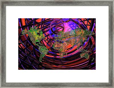 Connected World Framed Print