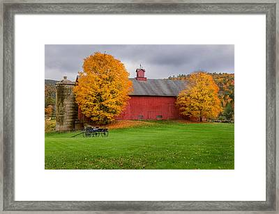 Connecticut Autumn Framed Print by Bill Wakeley