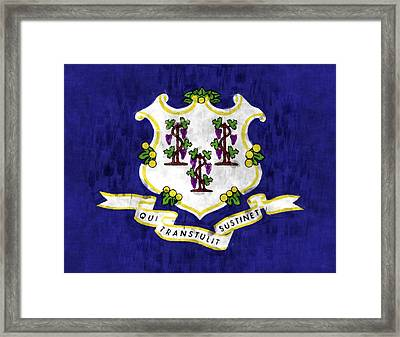 Connecticut Flag Framed Print