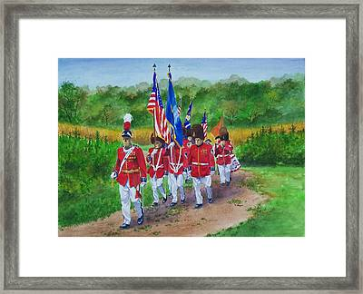 Connecticut Governor's Foot Guard Framed Print