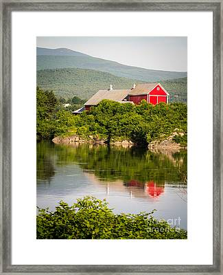Connecticut River Farm Framed Print by Edward Fielding