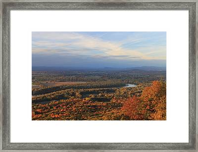 Connecticut River Valley In Autumn From Mount Holyoke Framed Print