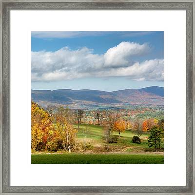 Connecticut Scenic Vista Square Framed Print