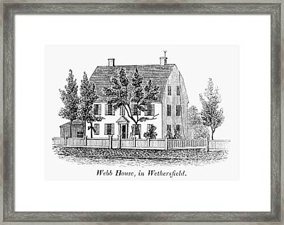 Connecticut Webb House Framed Print