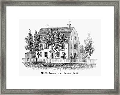 Connecticut Webb House Framed Print by Granger