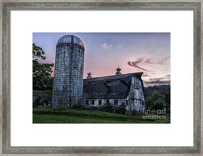 Connecticut's Verdant Litchfield Hills-classic Rustic Barn Scenic Framed Print