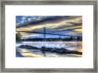 Connecting Bridge Framed Print by Sharon Batdorf