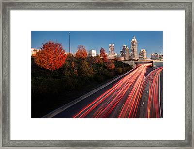 Connecting City Framed Print by Scott Moore