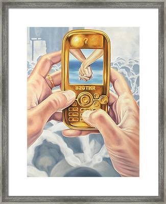 Connection Framed Print by Charles Luna