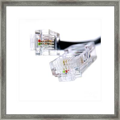 Connector Plug Framed Print by Bernard Jaubert