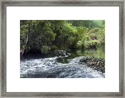 Connetquot River Falls Framed Print