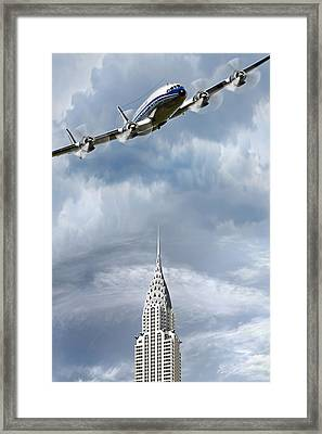 Connie And The Chrysler Framed Print by Peter Chilelli
