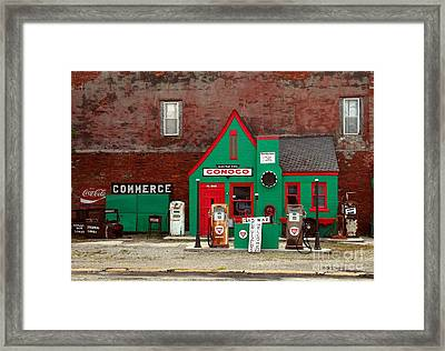 Conoco Station On Route 66 Framed Print
