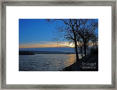 Conowingo Sunrise Framed Print by Olivia Hardwicke