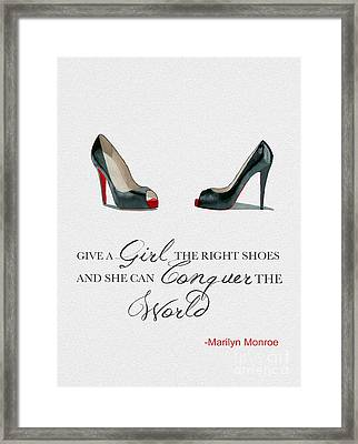 Conquer The World Framed Print by Rebecca Jenkins
