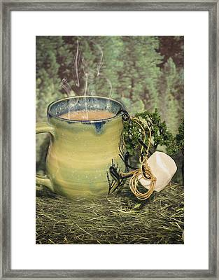 Conquering Mt Cocoa Framed Print by Heather Applegate