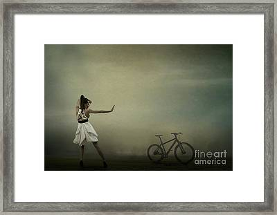 Framed Print featuring the pyrography Conqueror Of The Bike by Evgeniy Lankin