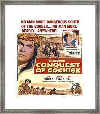 Conquest Of Cochise, Us Poster, Top Framed Print