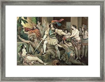 Conquest Of Mexico Hernando Cortes Framed Print