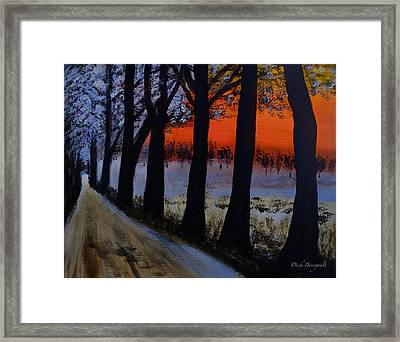 Conrad Road Sunrise Framed Print by Dick Bourgault