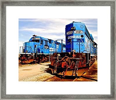 Conrail Choo Choo  Framed Print by Frozen in Time Fine Art Photography