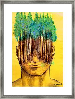 Consciousness Creates Reality Framed Print by Paulo Zerbato