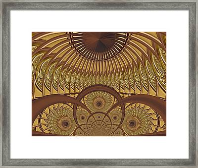 Conservatory - Carmelized Framed Print by Wendy J St Christopher