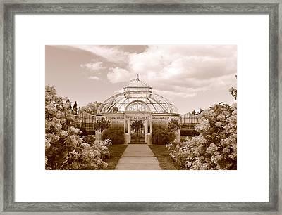 Conservatory- Sepia Framed Print