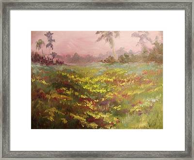 Consider How The Wild Flowers Grow Framed Print by Beth Arroyo