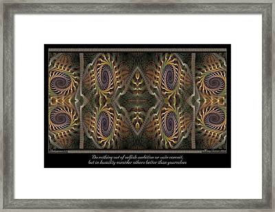 Consider Others Framed Print