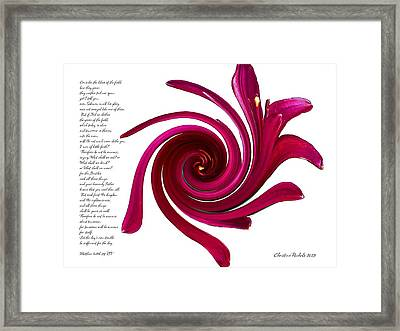 Consider The Lilies Framed Print