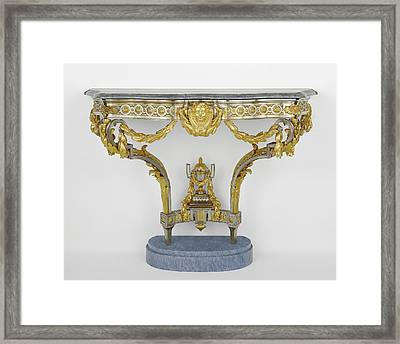 Console Table Attributed To Pierre Deumier, French, Active Framed Print