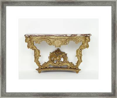 Console Table Unknown Paris, France Framed Print