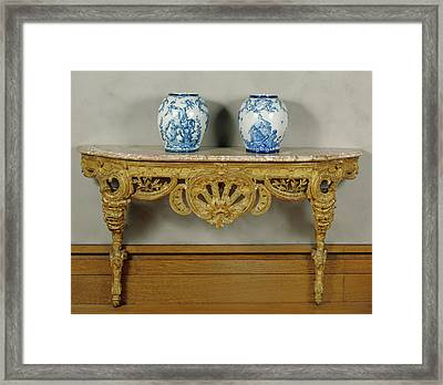 Console Table Unknown Piedmont , Italy Framed Print