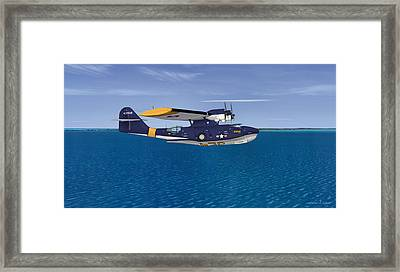 Consolidated Pby-5a Catalina Framed Print by Walter Colvin