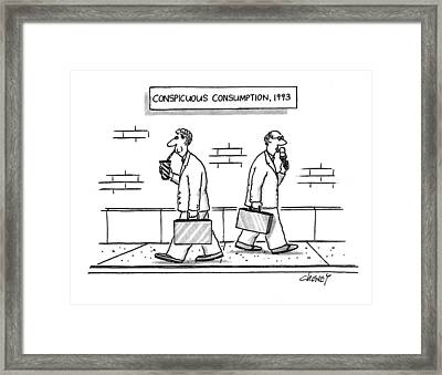 Conspicuous Consumption Framed Print by Tom Cheney