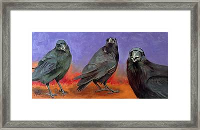Framed Print featuring the painting Conspiracy by Pattie Wall