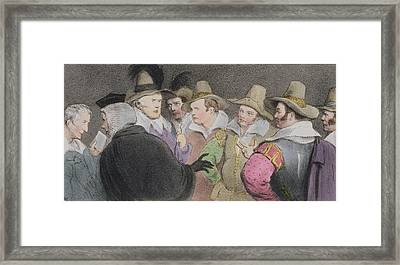 Conspiracy To Blow Up The Parliament Framed Print by John Doyle
