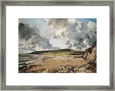 Constable, John 1776-1837. Weymouth Bay Framed Print by Everett